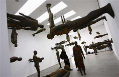 <p>Artist Antony Gormley's sculptural installation entitled 'Lost Horizon' is dispayed during a preview of his exhibition at the White Cube gallery in central London March 5, 2008. REUTERS/Alessia Pierdomenico</p>