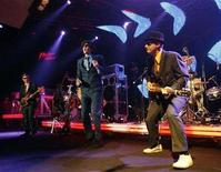 <p>The Beastie Boys perform during a concert at the 41st Montreux Jazz Festival July 9, 2007. REUTERS/Denis Balibouse</p>