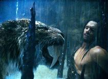 "<p>Steven Strait in a scene from ""10,000 B.C."" The prehistoric action movie boasting a menagerie of exotic beasts trampled the competition at the weekend box office in North America. REUTERSWarner Bros. Pictures/Handout</p>"