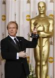 "<p>Writer/director Brad Bird celebrates with his Oscar statuette after winning Best Animated Feature for his work with the film ""Ratatouille"" at the 80th annual Academy Awards in Hollywood February 24, 2008. REUTERS/Mike Blake</p>"