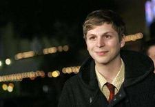"""<p>Michael Cera poses at the premiere of """"Juno"""" at the Village theatre in Westwood, California December 3, 2007. Cera, who played the title character's would-be boyfriend in """"Juno,"""" is in final negotiations to star in the adventure romance """"Scott Pilgrim's Little Life."""" REUTERS/Mario Anzuoni (UNITED STATES)</p>"""
