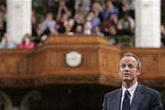<p>Public Safety Minister Stockwell Day speaks in the House of Commons on Parliament Hill in Ottawa October 23, 2007. REUTERS/Chris Wattie</p>