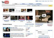 <p>A screenshot of YouTube.com, taken on March 12, 2008. REUTERS/www.youtube.com</p>