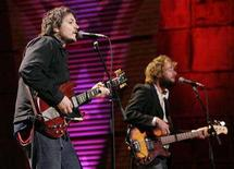 """<p>Jeff Tweedy (L) and John Stirratt of Wilco perform during the 20th anniversary """"Farm Aid"""" concert in Tinley Park, Illinois, September 18, 2005. Beck, Wilco, Widespread Panic and Primus have joined the lineup for the first Outside Lands Music and Arts Festival at San Francisco's Golden Gate Park on August 22-24. Radiohead, Tom Petty and Jack Johnson were previously announced as headliners. REUTERS/John Gress JG/PN</p>"""