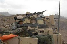 <p>Coalition forces return fire during an engagement with Taliban in Farah Province, December 5, 2007. REUTERS/ U.S. Army/Sgt. Michael Zuk/Handout</p>