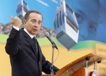 <p>O presidente da Colômbia, Alvaro Uribe, em Medellin, 26 de março de 2008. Photo by Fredy Amariles</p>
