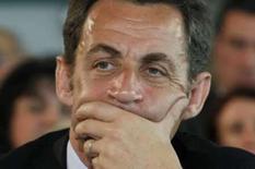 <p>Sarkozy numa reunião em Tarbes, França. Photo by Benoit Tessier</p>