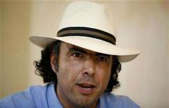 <p>Mexican director and producer Alejandro Gonzalez Inarritu talks during a news conference in Manzanillo in Mexico's state of Colima June 15, 2007. REUTERS/Daniel Aguilar</p>
