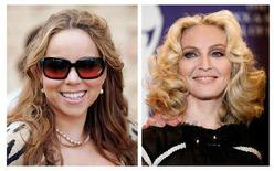 <p>Recording artists Mariah Carey (L) and Madonna are shown in this combination of file photographs from 2007 and 2008 respectively. REUTERS/Files</p>