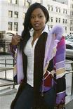 <p>Remy Ma arrives at Manhattan Criminal Court in New York for a hearing in relation to assault charges, January 31, 2008. REUTERS/Brendan McDermid</p>