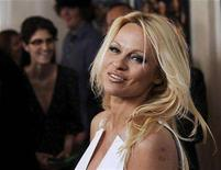"<p>""Superhero Movie"" cast member Pamela Anderson poses at the premiere of the film in Los Angeles, March 27, 2008. REUTERS/Chris Pizzello</p>"