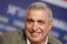 """<p>Director Errol Morris attends a news conference to present his film """"Standard Operation Procedure"""" running in competition at the 58th Berlinale International Film Festival in Berlin February 12, 2008. REUTERS/Johannes Eisele</p>"""
