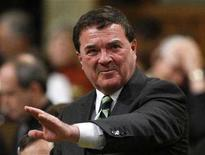 <p>Finance Minister Jim Flaherty speaks during Question Period in the House of Commons on Parliament Hill in Ottawa March 31, 2008. REUTERS/Chris Wattie</p>
