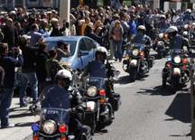 <p>Forças de segurança protegem a passagem da tocha Olímpica em São Francisco, 9 de abril. Photo by Pool</p>