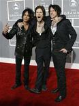<p>Band members of Buckcherry (L-R) Stevie D., Josh Todd and Keith Nelson arrive for the 49th Annual Grammy Awards in Los Angeles February 11, 2007. REUTERS/Mario Anzuoni</p>