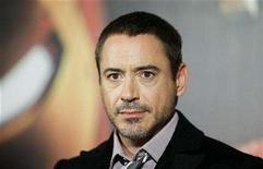 <p>Actor Robert Downey poses during a photocall to present the film 'Iron Man' in Berlin April 22, 2008. REUTERS/Johannes Eisele</p>