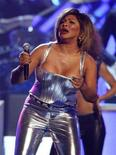 <p>Tina Turner performs at the 50th Annual Grammy Awards in Los Angeles February 10, 2008. The Rock Hall of Famer plans to embark on her first tour in eight years beginning October1 at the Sprint Center in Kansas City, Mo. REUTERS/Mike Blake</p>
