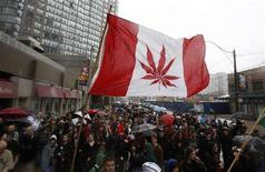 <p>People take part in the 10th annual Marijuana March in downtown Toronto May 3, 2008. REUTERS/Mark Blinch</p>