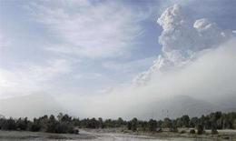 <p>Il fumo si leva dal vulcano Chaiten a 1220 chilometri a sud di Santiago, il 2 maggio 2008. REUTERS/Federico Lynam</p>