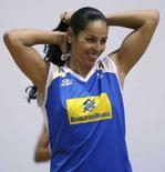 <p>Paula Pequeno durante treino da seleção de vôlei do Brasil em Saquarema, na terça-feira, na preparação para os Jogos de Pequim. Photo by (C) Sergio Moraes</p>