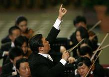 <p>L'Orchestra Filarmonica Cinese durante il concerto. REUTERS/Dario Pignatelli (VATICAN)</p>