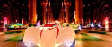 <p>-'Speed Racer' investe no visual e nos efeitos digitais. Com impressionantes cenários digitais e corridas de deixar o espectador sem fôlego, os irmãos Andy e Larry Wachowski (da trilogia 'Matrix') voltam aos cinemas com o novo 'Speed Racer', estréia da sexta-feira. Imagem do Filme. Photo by Reuters (Handout)</p>