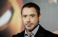 <p>Imagem de arquivo do ator Robert Downey Jr. durante apresentação do filme 'Homem de Ferro' em Berlim. O filme lidera a competição nas bilheterias norte-americanas pela segunda semana consecutiva. Photo by Johannes Eisele</p>