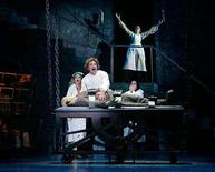 """<p>A scene from the musical """"Young Frankenstein"""". Pulitzer Prize-winning play """"August: Osage County"""" and musicals """"Young Frankenstein"""" and """"Xanadu"""" nabbed the top Outer Critics Circle awards on Monday ahead of U.S. theater's top honors, the Tonys. REUTERS/Handout</p>"""