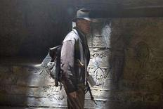 """<p>Harrison Ford is back as Indiana Jones in """"Indiana Jones and the Kingdom of the Crystal Skull."""" REUTERS/Paramount Pictures/David James/Handout</p>"""