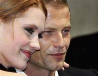 """<p>Lauren Lee Smith and German Til Schweiger (R) arrive for the 34th German Movie Ball """"Filmball"""" 2007 in Munich January 20, 2007. REUTERS/Michaela Rehle</p>"""