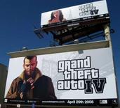 """<p>Les ventes de consoles et de jeux vidéo ont bondi de 47% aux Etats-Unis en avril par rapport à l'année dernière, dopées notamment par le jeu """"Grand Theft Auto 4"""" et la Wii de Nintendo. /Photo prise le 26 avril 2008/REUTERS/Lisa Baertlein</p>"""