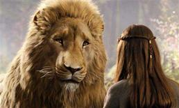 """<p>The lion Aslan in a scene from """"The Chronicles of Narnia: Prince Caspian"""" in an image courtesy of Walt Disney Pictures. REUTERS/Handout</p>"""