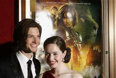 "<p>British actors Anna Popplewell and Ben Barnes arrive for the premiere of the Disney film ""The Chronicles of Narnia: Prince Caspian"" in New York May 7, 2008. REUTERS/Lucas Jackson</p>"