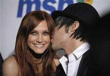 <p>Singers Ashlee Simpson (L) and Pete Wentz attend the Clive Davis Pre-Grammy Party in Beverly Hills, California February 9, 2008. REUTERS/Phil McCarten</p>