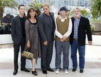 "<p>Director Steven Spielberg (2nd R) and producer George Lucas (R) pose with cast members Shia LaBeouf (L), Harrison Ford and Karen Allen (2nd L) during a photocall for the film ""Indiana Jones and the Kingdom of the Crystal Skull"" at the 61st Cannes Film Festival May 18, 2008. REUTERS/Vincent Kessler</p>"