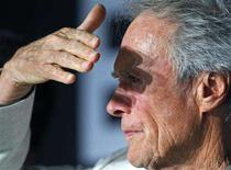 """<p>Clint Eastwood shades his eyes as he attends a news conference for the film """"The Exchange"""" at the 61st Cannes Film Festival May 20, 2008. REUTERS/Jean-Paul Pelissier</p>"""