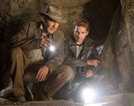 """<p>A scene from """"Indiana Jones and the Kingdom of the Crystal Skull"""". REUTERS/Paramount Pictures/Handout</p>"""