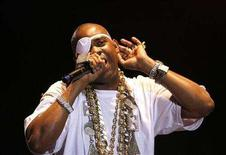 "<p>Hip Hop artist Richard ""Slick Rick"" Walters performs during the opening night of the Martin Luther King Jr. Concert Series in the Brooklyn borough of New York July 9, 2007. REUTERS/Lucas Jackson</p>"
