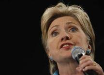<p>La candidata alle primarie fra i democratici, Hillary Clinton. REUTERS/Carlos Barria (UNITED STATES) US PRESIDENTIAL ELECTION 2008 (USA)</p>