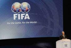 <p>Il presidente della Fifa Sepp Blatter a Sydney. REUTERS/Daniel Munoz</p>