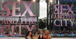 <p>Atrizes de Sex and the City durante estréia do filme em Berlim, no dia 15 de maio de 2008. Photo by Fabrizio Bensch</p>
