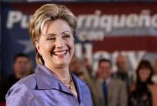 <p>Hillary Clinton durante evento de campanha em Porto Rico, 31 de maio de 2008  REUTERS. Photo by Ana Martinez</p>