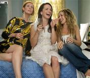 """<p>Cynthia Nixon, Kristin Davis and Sarah Jessica Parker in a scene from """"Sex and the City"""". REUTERS/New Line Cinema/Handout</p>"""