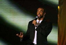 <p>Singer Craig David from Britain performs on a stage during the final of the Elite Model Look competition in Prague, April 21, 2008. REUTERS/Petr Josek</p>