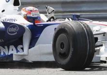 <p>Polonês Kubica vence no Canadá e lidera Fórmula 1; Massa é 5o. O polonês Robert Kubica conseguiu a primeira vitória da carreira da Fórmula 1 e também da equipe BMW Sauber no Grande Prêmio do Canadá, assumindo a liderança do campeonato. 8 de junho. Photo by Christinne Muschi</p>