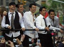 <p>The New Kids on the Block (from-L) Donnie Wahlberg, Joey McIntyre, Jordan Knight, Danny Wood and Jonathan Knight appear on NBC's 'Today' show in New York May 16, 2008. REUTERS/Brendan McDermid</p>