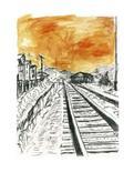 <p>Imagem de divulgação da pintura Train Tracks, do compositor e poeta Bob Dylan. Photo by Reuters (Handout)</p>