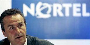 <p>Nortel President and Chief Executive Officer (CEO) Mike Zafirovski speaks during a news conference in Mumbai August 13, 2007. REUTERS/Punit Paranjpe</p>