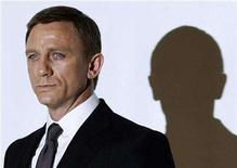 """<p>Actor Daniel Craig who plays James Bond poses during a photocall at Pinewood Studios to mark the start of production of the 22nd James Bond film, """"Quantum of Solace"""", in Buckinghamshire, north of London January 24, 2008. REUTERS/Stephen Hird</p>"""