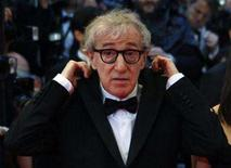 """<p>U.S. director Woody Allen arrives for the screening of his film """"Vicky Cristina Barcelona"""" at the 61st Cannes Film Festival May 17, 2008. Allen's new film, """"Vicky Cristina Barcelona,"""" the song """"Barcelona"""" by the band Giulia y los Tellarini explores chance meetings and subsequent love affairs, including one with the Spanish city itself. REUTERS/Jean-Paul Pelissier</p>"""